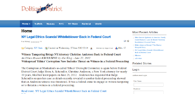 Political Patriot web site - parent rights, judicial fairness, political corruption expose web news site