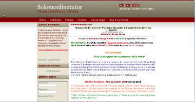Screenshot of the original Solomonlinetutor web site