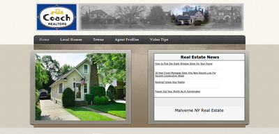 Screenshot of Coach Realtors Malverne Conference Center web site