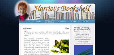 Screenshot of Harrietsbookshelf web site